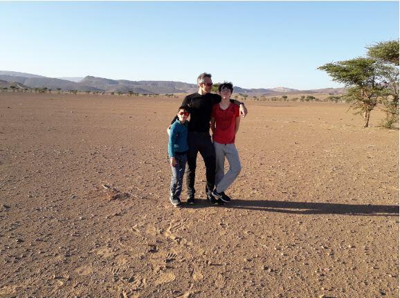 Dans le sud du Maroc avec mes enfants